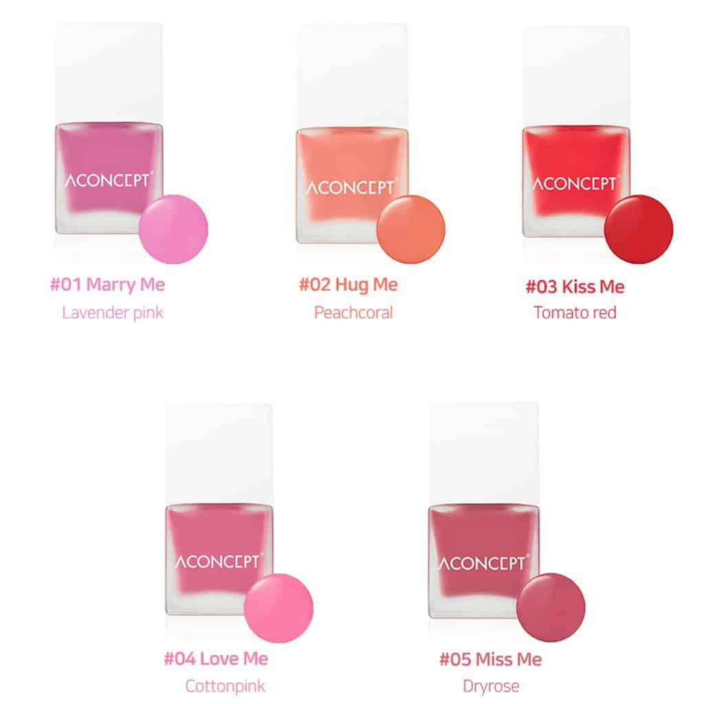 ACONCEPT Cheek Me 10g 3 Kiss me Watercolor Cheek Liquid Blusher Easy to Blush Makeup Not Sticky Fresh Oil Base Water Fit Texture Natural Daily Color 2