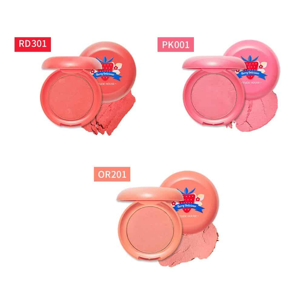 ETUDE HOUSE Berry Delicious Cream Blusher 6g 2 Full Of Cream Moist Cream Cheek for a Lovely Look Daily Natural Color 2