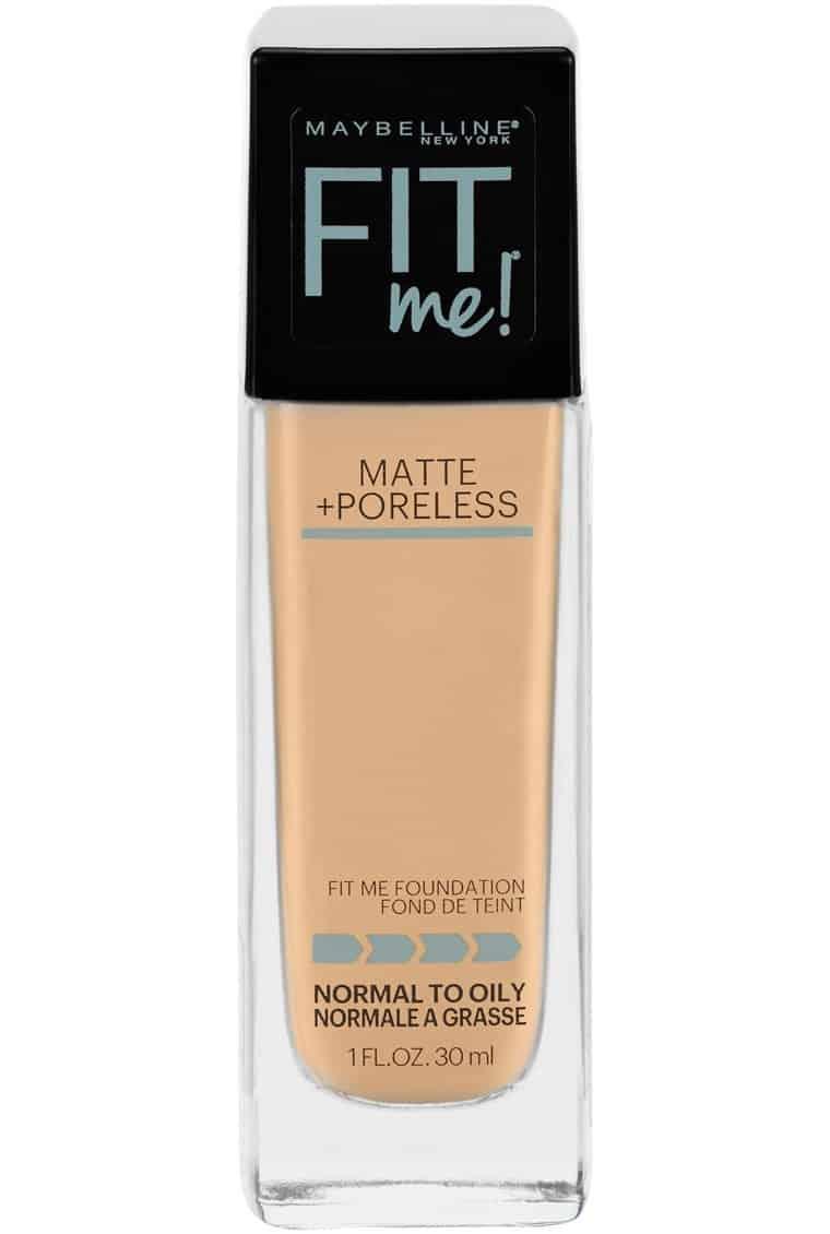 Maybelline Fit Me Matte Poreless Liquid Foundation Makeup Warm Nude
