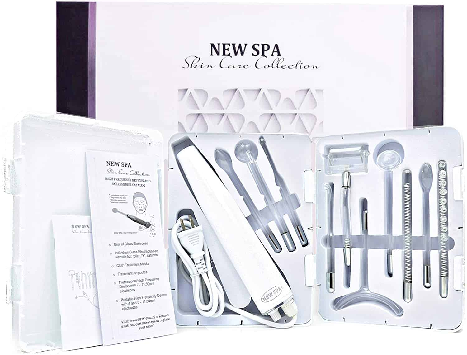 NEW SPA Grade Portable High Frequency D'arsonval Facial Device
