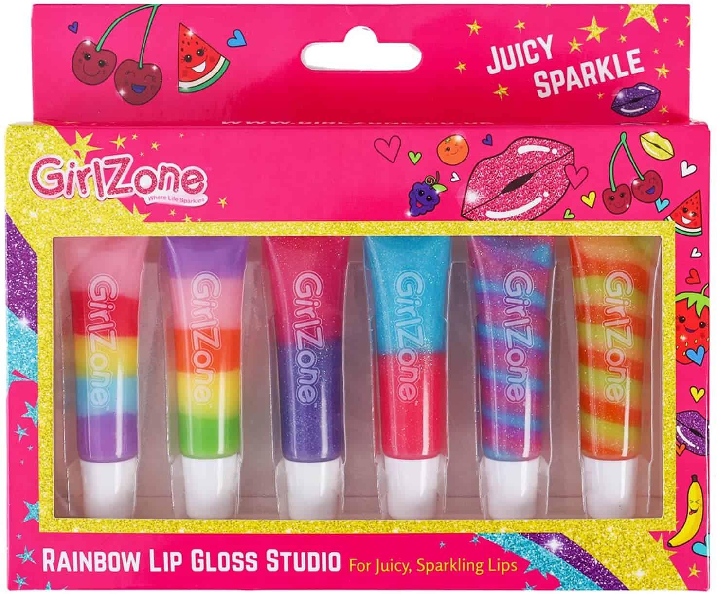 GirlZone Rainbow Fruity Lip Gloss