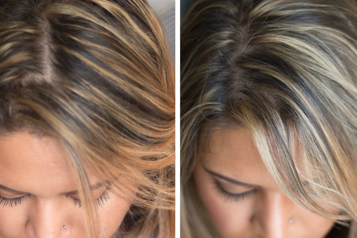 Before and after hair toner 1